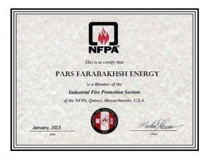 عضویت حفاظت از آتش سوزی صنعتی سازمان NFPA