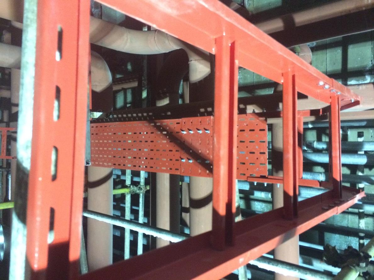 نردبان کابل آهن با پوشش رنگ پودری الکترواستاتیکی